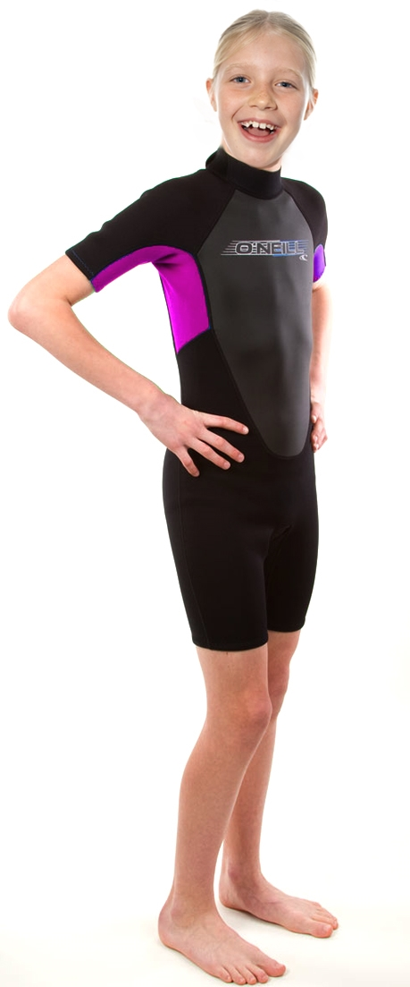 O'Neill Reactor Springsuit Junior Wetsuit Youth Kids 2mm - Black/Pink