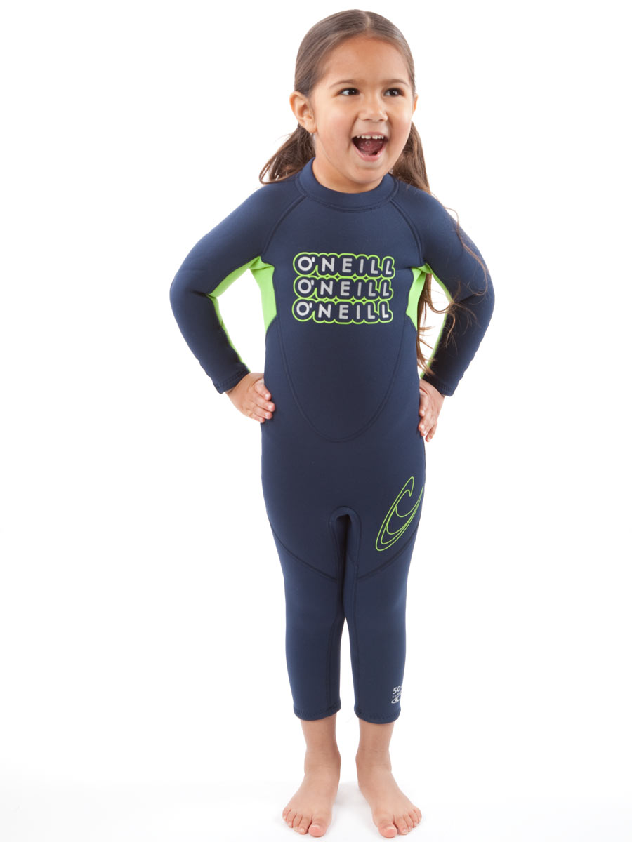 O'Neill Reactor Toddler Full Wetsuit 2mm Kids Wetsuit - Navy - 4301-X06