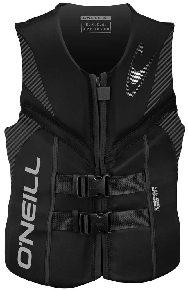O'Neill Reactor USCG Life Vest Skiing Wakeboarding Vest - Black