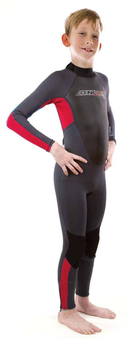 O'Neill Reactor Wetsuit Junior 3/2mm Kids Wetsuit Boys & Girls- Black/Red