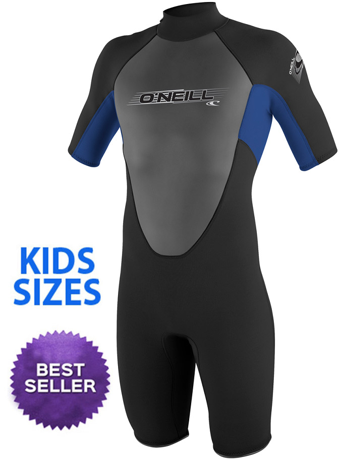 O'Neill Reactor Youth Springsuit Wetsuit 2mm Boys & Girls -Blk/Blue -
