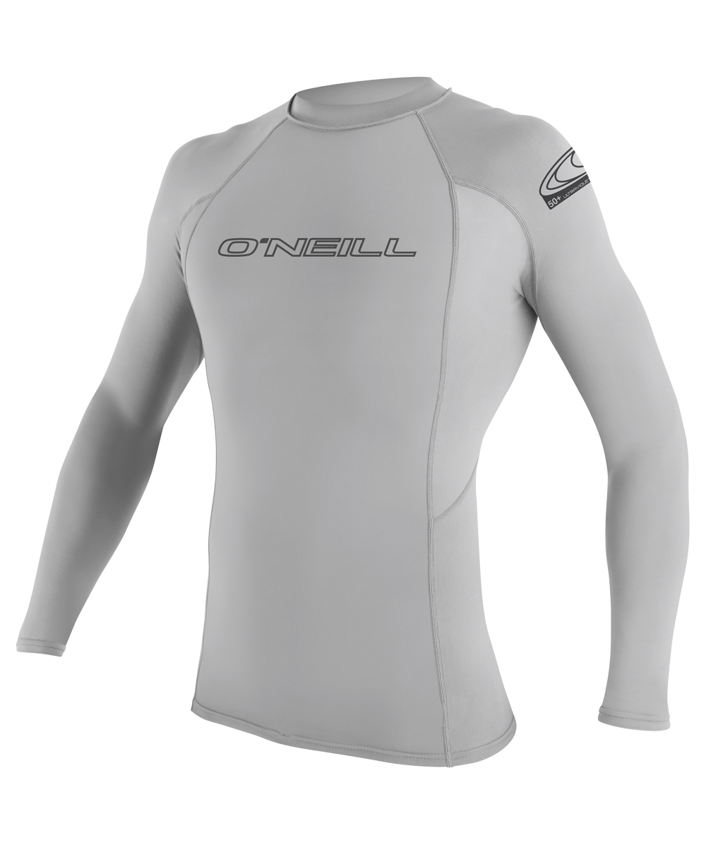 O'Neill Skins Rashguard  Long Sleeve 50+ UV Protection - Light Grey