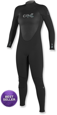 O'Neill Women's Epic ll Wetsuit 4/3mm Full - Black