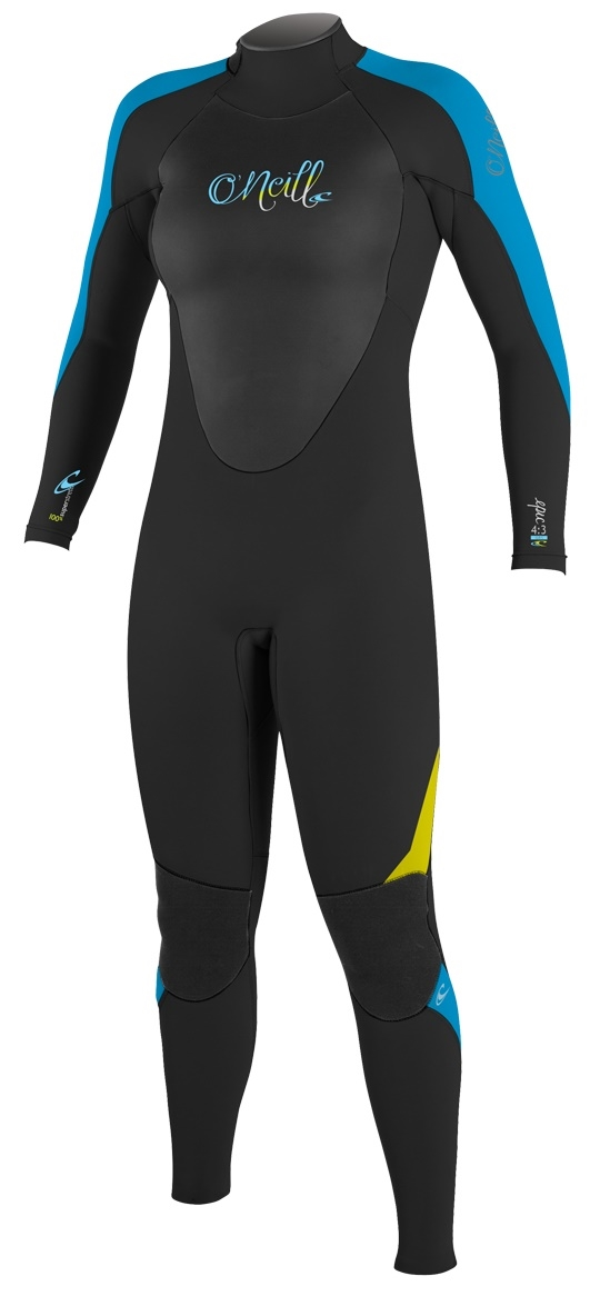 O'Neill Women's Epic Wetsuit 4/3mm Full - Black/Blue