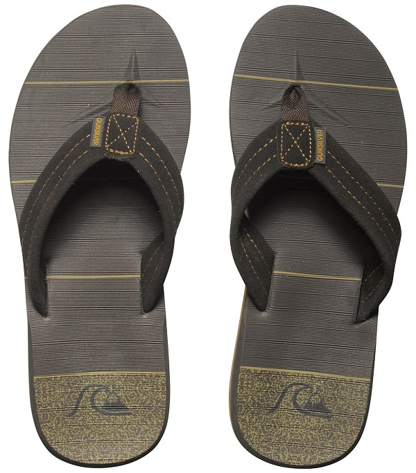 Quiksilver Carver Suede Art Men's Sandal - Dark Brown