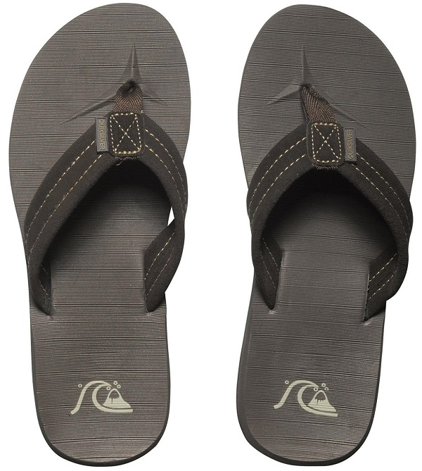 Quiksilver Carver Suede Men's Sandal - Dark Brown