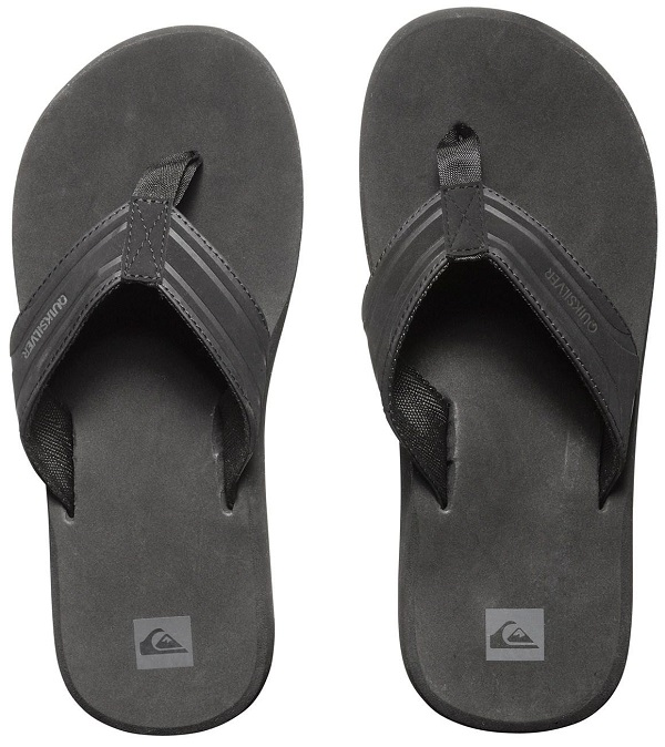 Quiksilver Flip Flops Monkey Wrench Men's Sandal - Black
