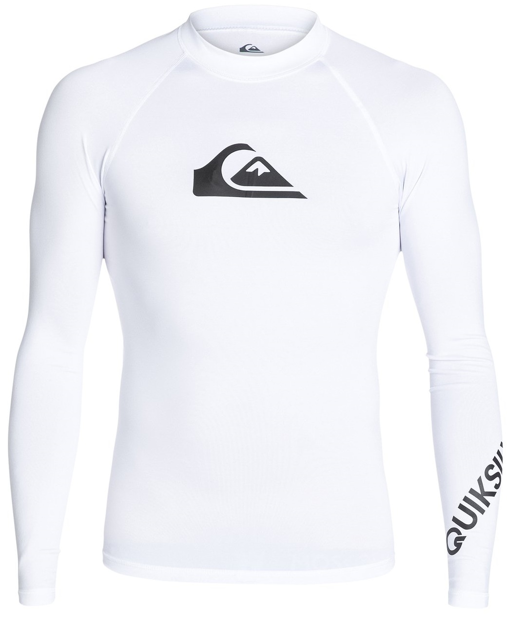 Quiksilver Men's Rashguard Long Sleeve All Time 50+ UV Protection - White