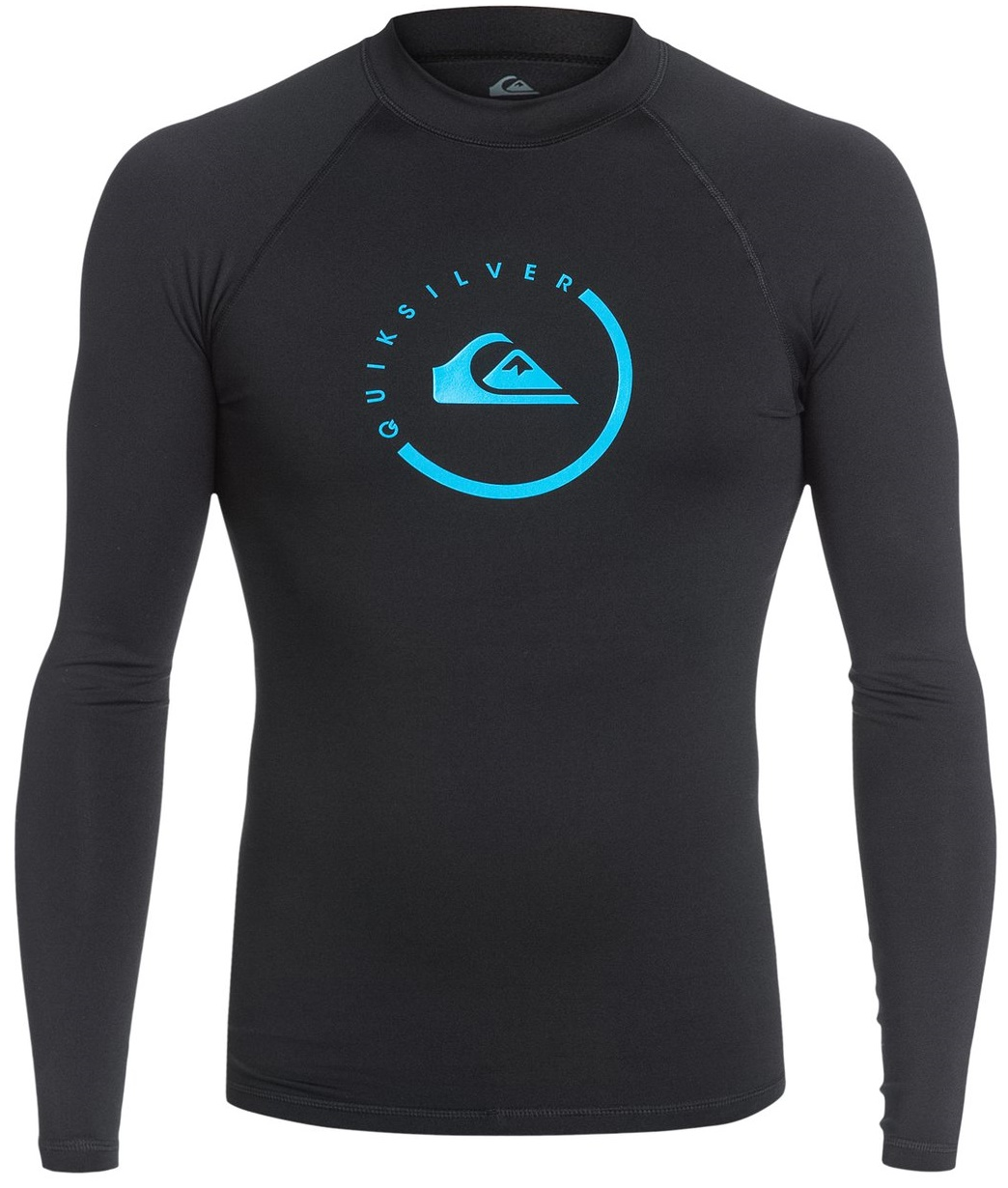 Quiksilver Men's Rashguard Long Sleeve LOCK UP 50+ UV Protection - Black
