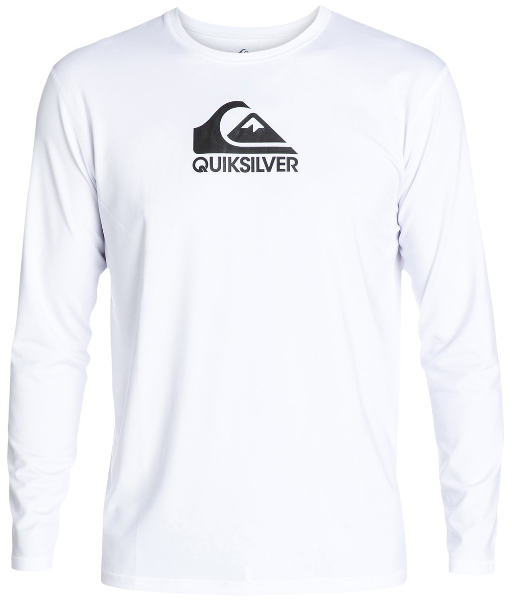 Quiksilver Men's Rashguard Long Sleeve Loose Fit  Solid Streak - White