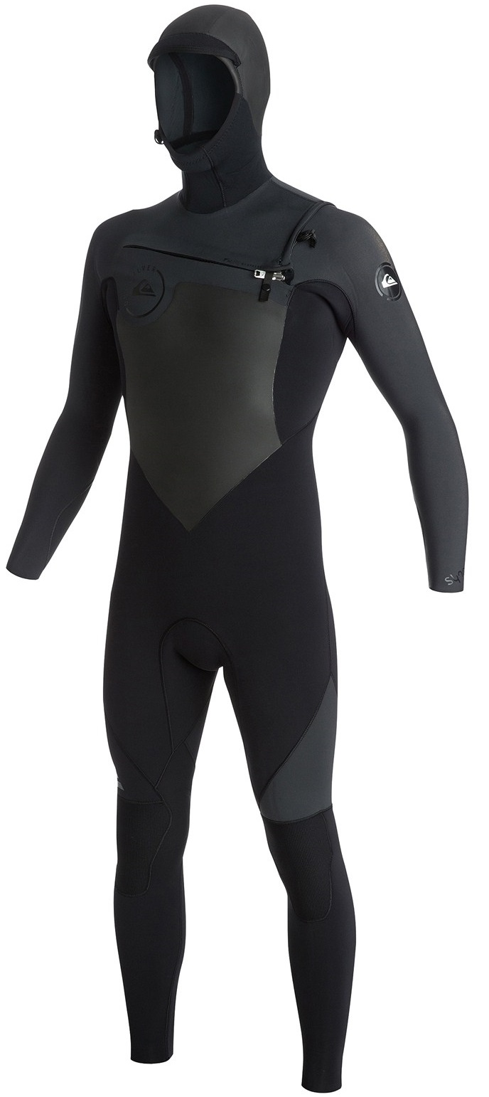 Quiksilver Wetsuit Men's 5/4/3mm Hooded Syncro