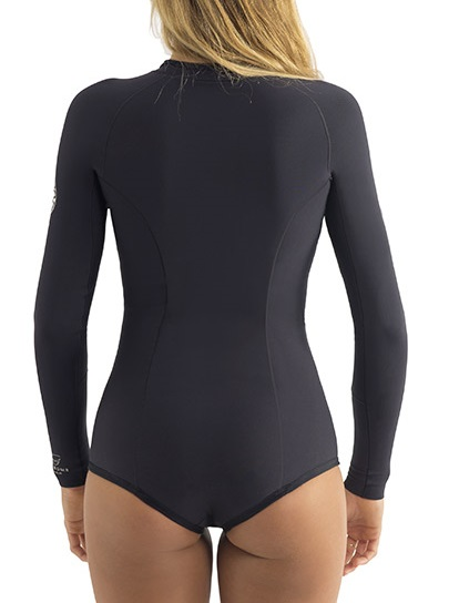 Rip Curl G-Bomb Springsuit Wetsuit 1mm Long Sleeve Booty Cut - Black - WSP4EW-BLK