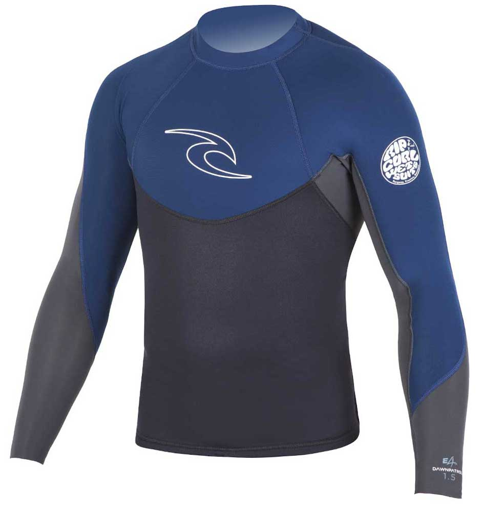 Rip Curl Dawn Patrol Men's Long Sleeve 1.5mm Neoprene Jacket - Navy