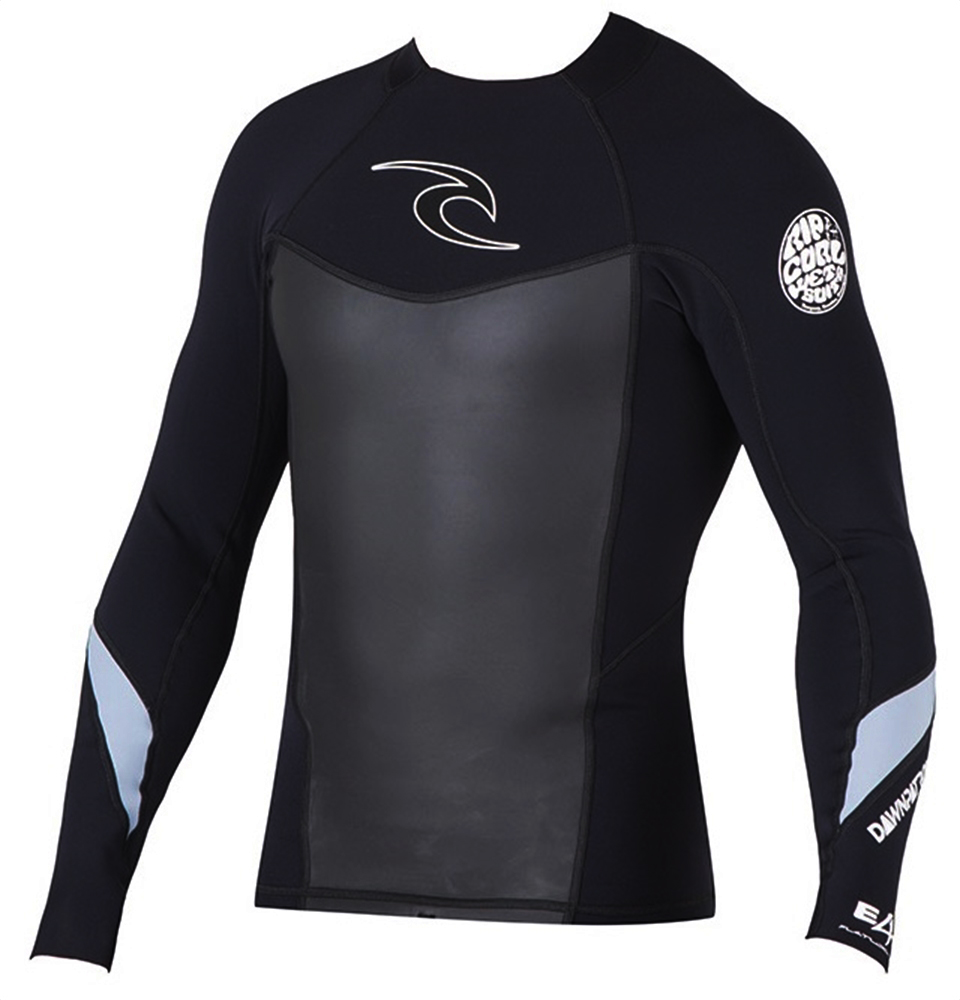 Rip Curl Dawn Patrol Men's Long Sleeve Neoprene Jacket - Black - WVE4ZM-BLK