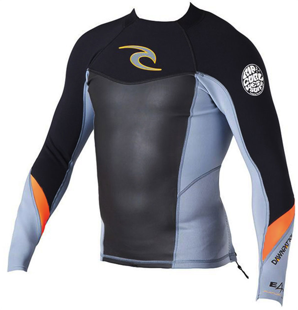 Rip Curl Dawn Patrol Men's Long Sleeve Neoprene Jacket - Silver/Black