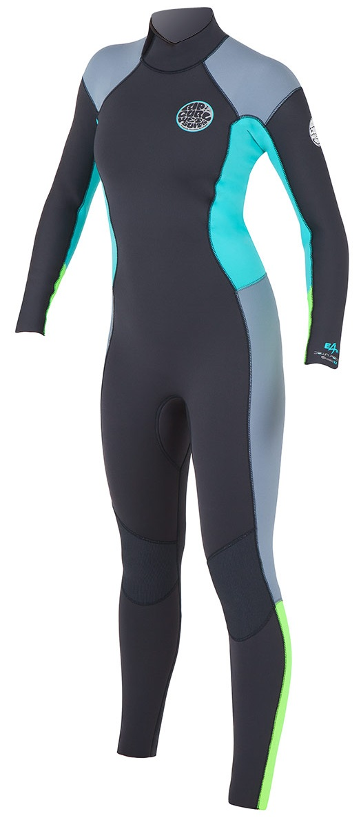 Rip Curl Dawn Patrol Women's Wetsuit Back Zip 3/2mm GBS - Blk/Blue/Grey