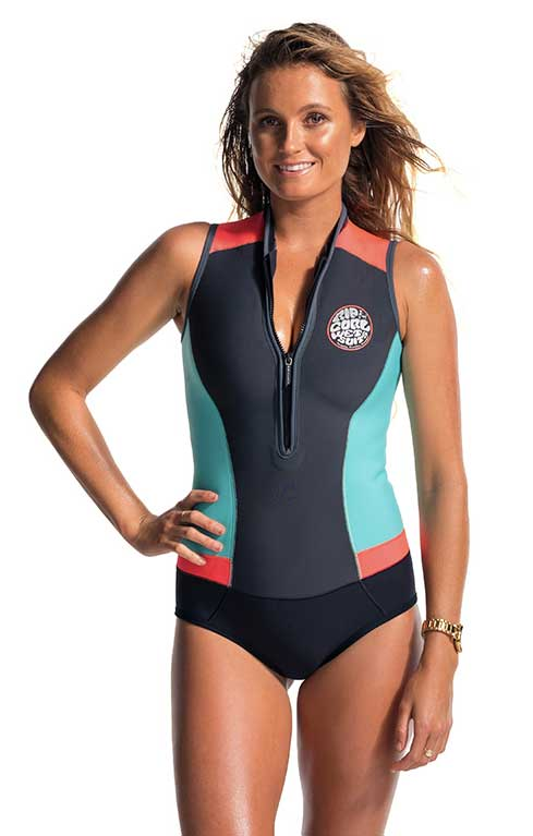 Rip Curl G-Bomb Wetsuit Women's Sleeveless 1mm Springsuit G-Bomb Cap Sleeve Grey