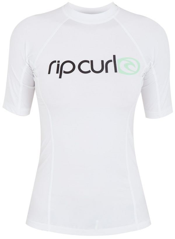 Rip Curl Surf Team Women's Short Sleeve Rashguard 50+ UV Protection - White