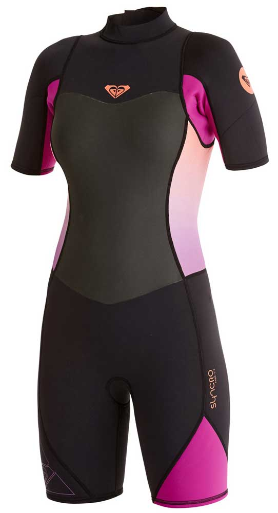 Roxy Syncro 2mm Springsuit Womens Shorty Wetsuit - Black