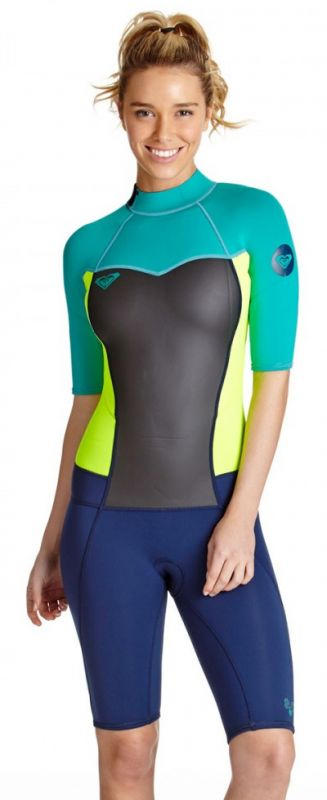 Roxy Syncro Springsuit Wetsuit Shorty 2mm - Limited Edition -BEST SELLER