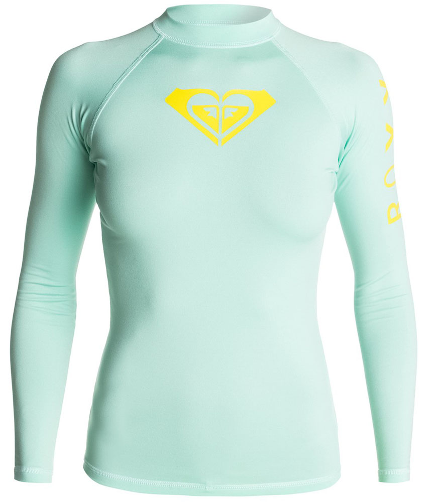 Roxy Rashguard Long Sleeve 50+ UPF Protection Whole Hearted Series BEST SELLER - Cabbage