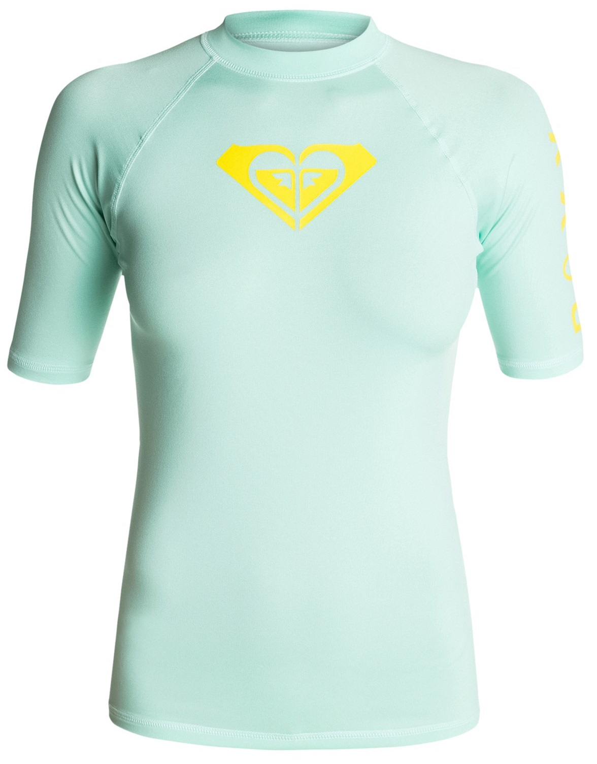 Roxy Whole Hearted Rashguard Short Sleeve Women's 50+UPF - Cool Blue