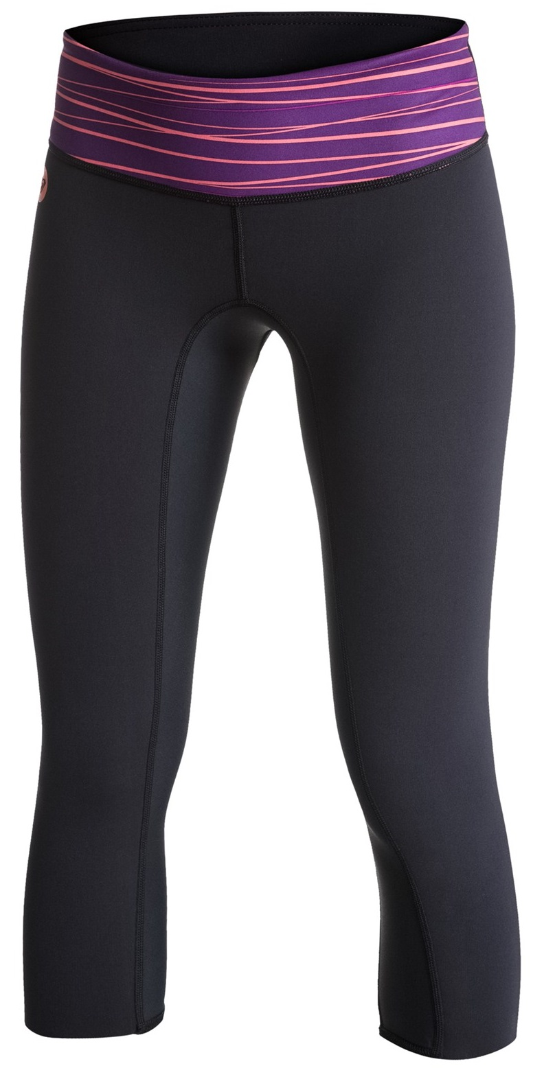 Roxy XY 1mm Inside Break Neo Capri Women's Pant Black/Purple