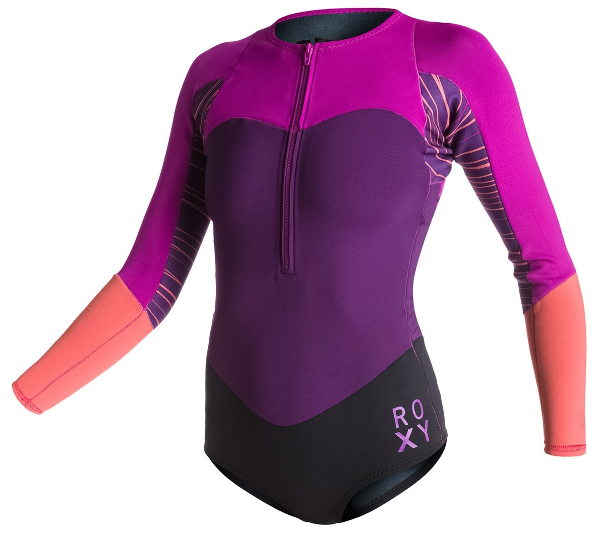 Roxy XY Springsuit 1mm Long Sleeve Womens Bikini Front Zip BEST SELLER