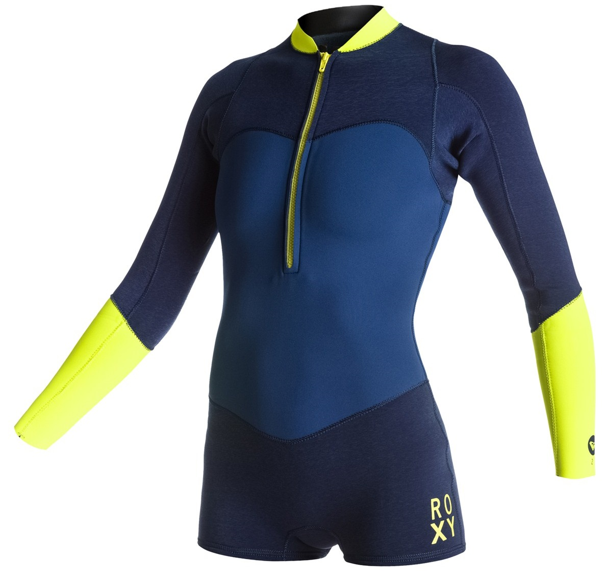 Roxy XY Springsuit 2mm Long Sleeve Womens Front Zip Blue/Yellow