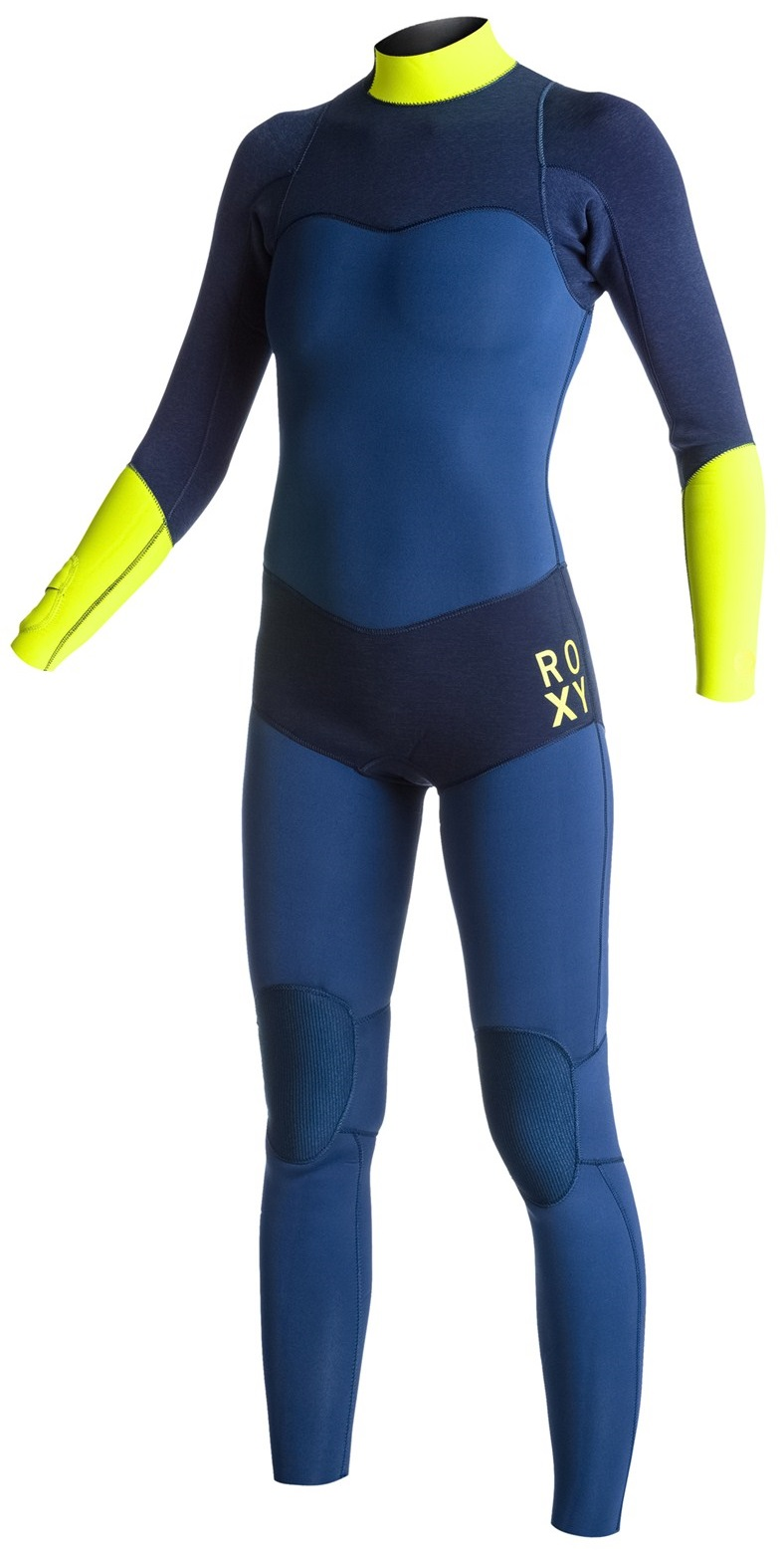 Roxy XY Women's 3/2mm Wetsuit Back Zip Fullsuit GBS Sealed Seams LIMITED EDITION