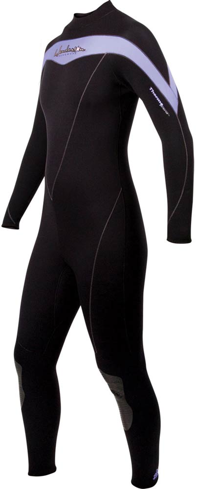 Women's Thermoprene Women's Wetsuit 5mm Fullsuit - Purple/Black -
