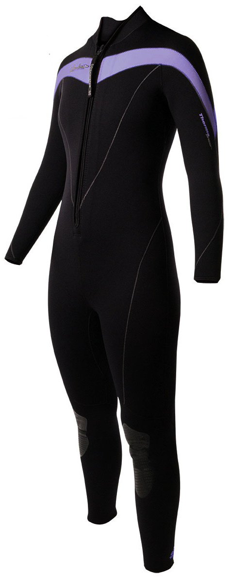 Women's Wetsuit Thermoprene 3mm Full  - Blk/Purple