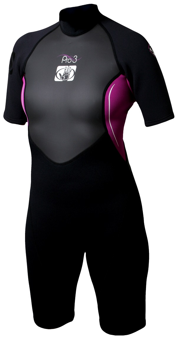 Women's Body Glove Pro3 Springsuit Wetsuit - Black/Pink -