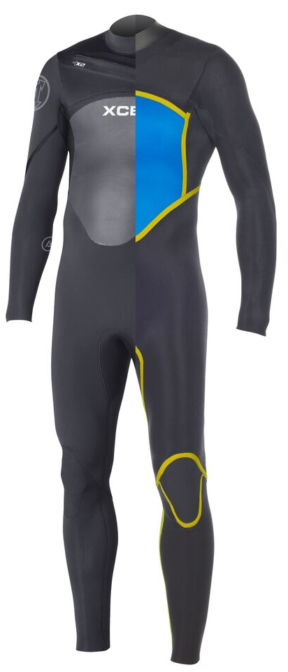 XCEL Men's Axis X2 Wetsuit 3/2mm Chest Zip - Black