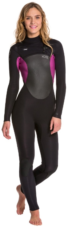XCEL Women's Axis Wetsuit X2 4/3mm Chest Zip - Purple - WQ43Z2X4-BDK
