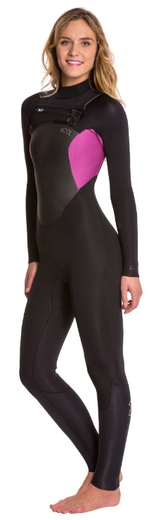 XCEL Women's Axis Wetsuit X2 4/3mm Chest Zip - Purple