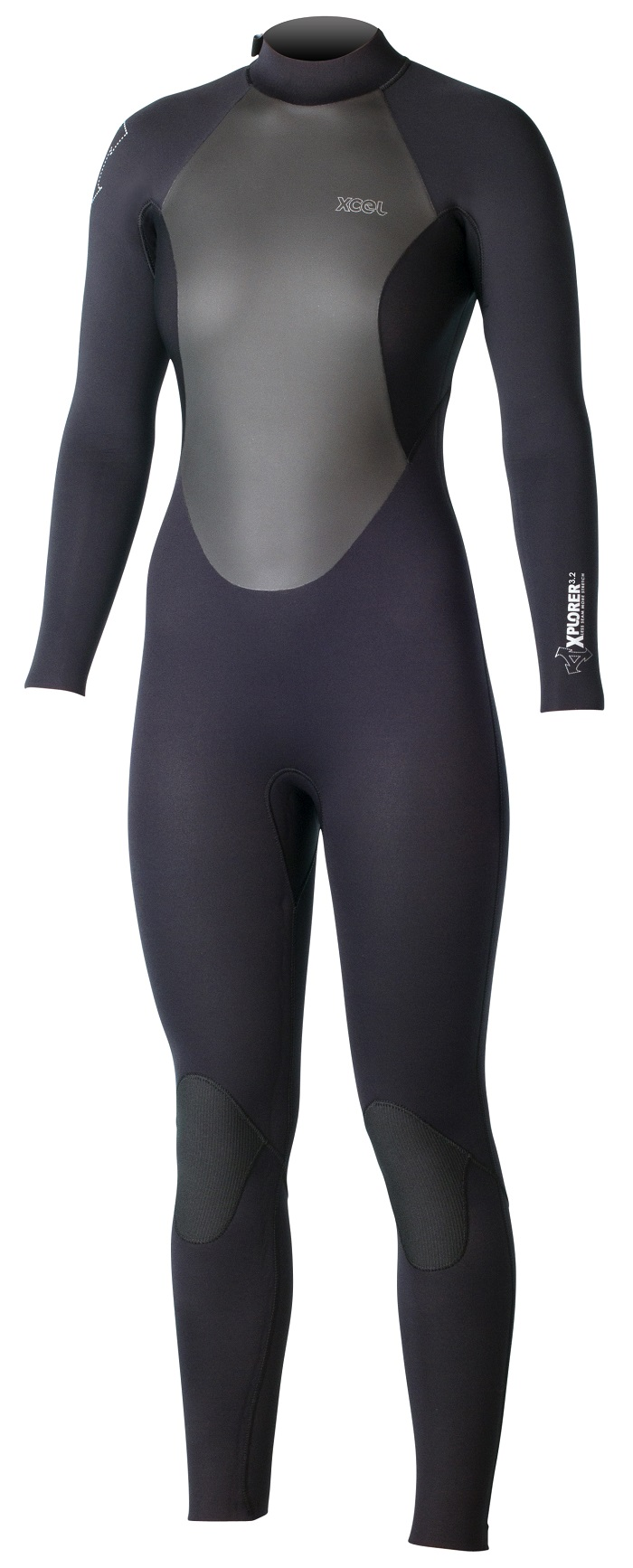 XCEL Xplorer Women's Wetsuit OS 3/2mm Back Zip Cold Water Wetsuit - Black