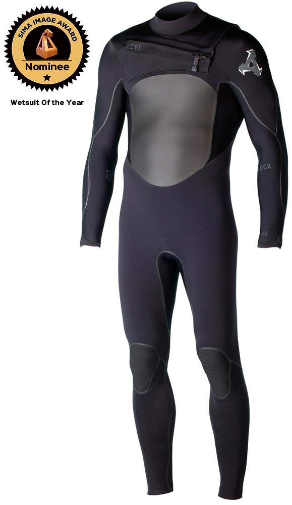 Xcel Men's Drylock 4/3mm Men's Wetsuit Chest Zip SIMA WETSUIT OF THE YEAR Nominee