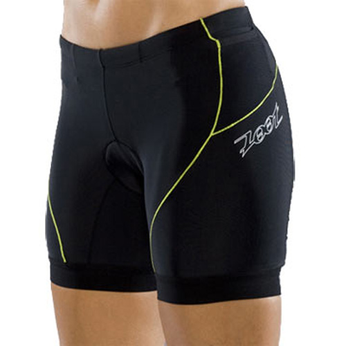Zoot Tri Fit Triathlon Shorts 6 inch - Black/Strobe