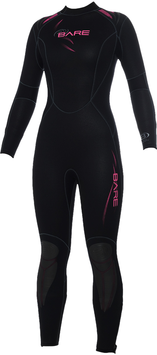BARE Womens 3/2mm Sport Wetsuit Video Description - 002453-PNK