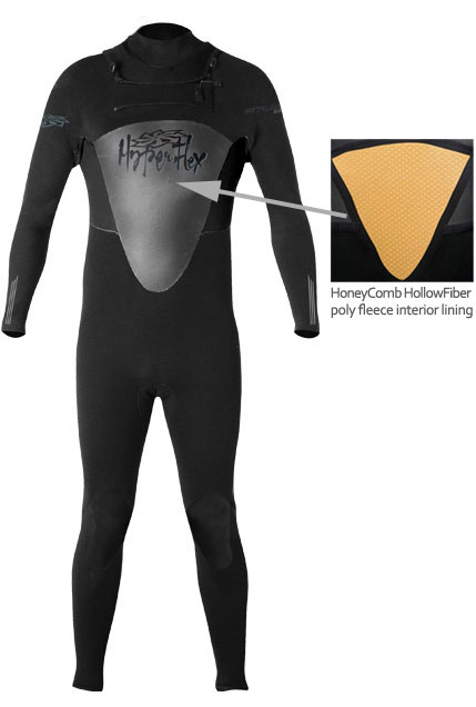 4/3mm Mens Hyperflex FLOW Full Wetsuit Top Entry Wetsuit - XZ843MF