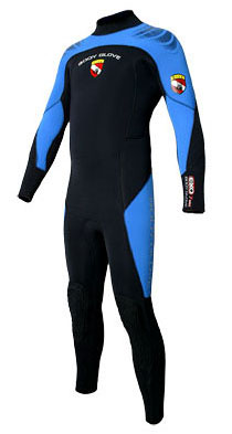 Body Glove Exo Men's Full Suit 7mm Wetsuit - Black & Blue