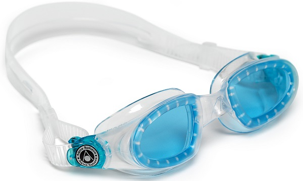 Aqua Sphere Mako Swim Goggles Clear with Blue Lens