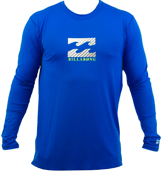 Billabong Chronicle Rashguard Loose Fit Long Sleeve- Royal - MWLY5CHL-ROY