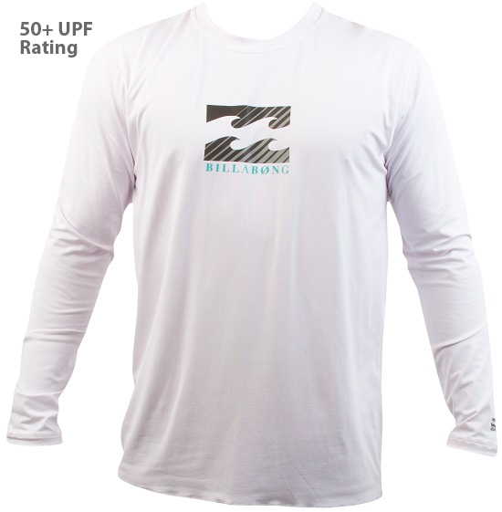 Billabong Chronicle Loose Fit Rashguard Long Sleeve - White - MWLY5CHL-WHT