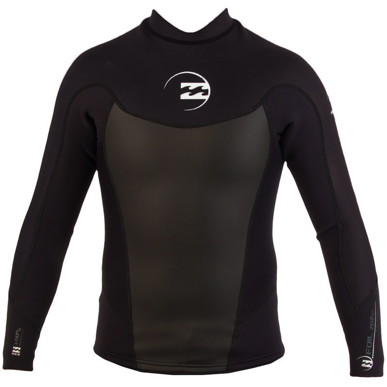 Billabong Foil Jacket 2mm Men's Long Sleeve Neoprene - Black -