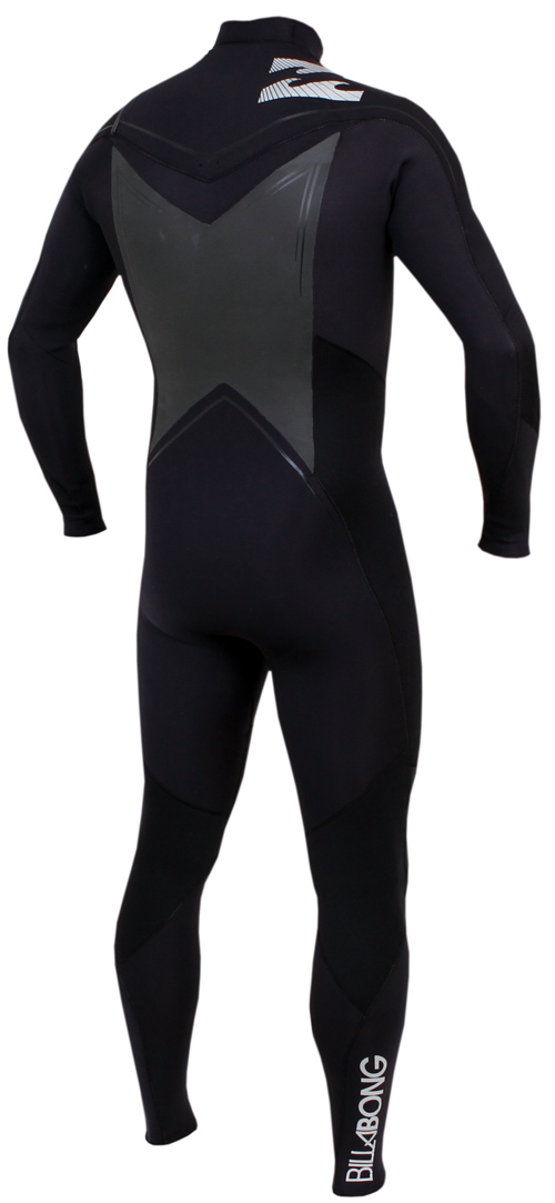 Billabong Foil 302 Mens Chest Zip 3/2mm GBS Full Wetsuit - Black - MWFUVFC3-BLK