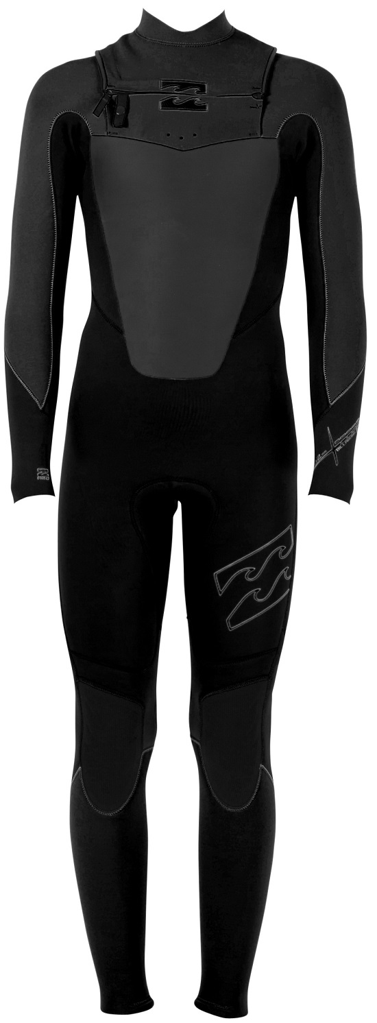 Billabong Foil 403 Men's Chest Zip 4/3mm GBS Full Wetsuit - MWFU3FC4-BLK