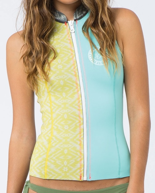 Billabong Sneeky Front Zip Women's Neoprene Vest Surf Capsule - Sea Foam