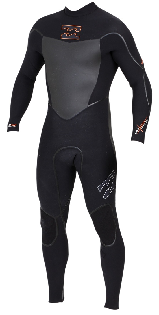 Billabong Solution SG5 403 4/3mm Chest Zip Wetsuit - MWFUVGC4-BLK